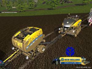 "Мод ""New Holland BB 1290 & RB 150 Especial v1.0"" для Farming Simulator 2015"