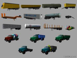 "Мод ""KrAZ and Trailers Pack v2"" для Farming Simulator 2013"
