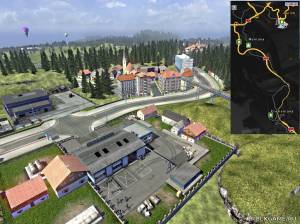 "Мод ""Serpentine Road & House & Long Way Small v5.0"" для Euro Truck Simulator 2"