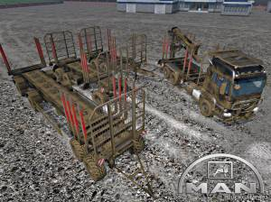 "Мод ""MAN TGS 33.480 Forest Set v2.0 Beta"" для Farming Simulator 2015"
