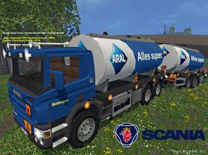 "Мод ""Scania Tanker & Trailer v 2.3"" для Farming Simulator 2015"