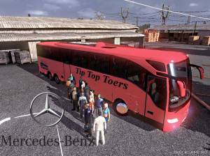 "Мод ""Mercedes Tourismo Tip Top Toers"" для Euro Truck Simulator 2"