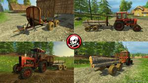 "Мод ""WoodTrailer TM12 V 0.8"" для Farming Simulator 2015"