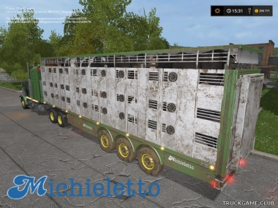 "Мод ""Michieletto AM19 Livestock Trailer v1.0"" для Farming Simulator 2017"