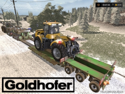 "Мод ""Goldhofer StzVp3 v1.3"" для Farming Simulator 2017"