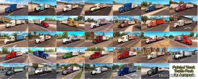 "Мод ""Painted truck traffic pack by Jazzycat v1.3"" для American Truck Simulator"