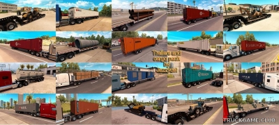"Мод ""Trailers and cargo pack by Jazzycat v2.0"" для American Truck Simulator"