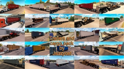 "Мод ""Trailers and cargo pack by Jazzycat v2.1"" для American Truck Simulator"