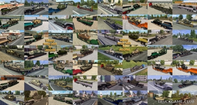 "Мод ""Military cargo pack by Jazzycat v2.7"" для Euro Truck Simulator 2"