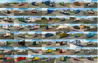 "Мод ""Painted bdf traffic pack by Jazzycat v3.5"" для Euro Truck Simulator 2"