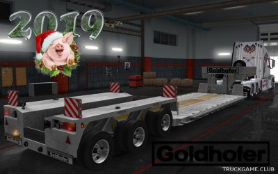 "Мод ""Owned Goldhofer Overweight Trailer v1.2.1"" для Euro Truck Simulator 2"