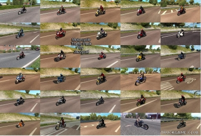 "Мод ""Motorcycle traffic pack by Jazzycat v2.5"" для Euro Truck Simulator 2"