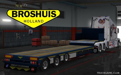 "Мод ""Owned Broshuis Overweight Trailer v1.2"" для Euro Truck Simulator 2"