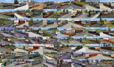 "Мод ""Railway cargo pack by Jazzycat v1.9.1"" для Euro Truck Simulator 2"