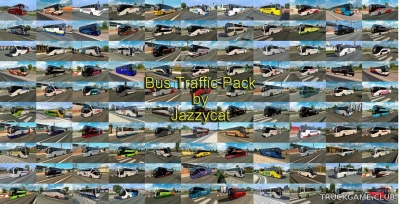 "Мод ""Bus traffic pack by Jazzycat v7.0.1"" для Euro Truck Simulator 2"