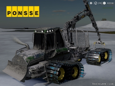 "Мод ""Ponsse Bison Shuttle"" для Farming Simulator 2019"