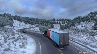 "Мод ""Frosty Winter Weather Mod v2.9"" для American Truck Simulator"