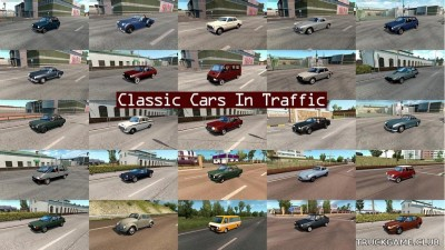 "Мод ""Classic cars traffic pack by TrafficManiac v5.3"" для Euro Truck Simulator 2"