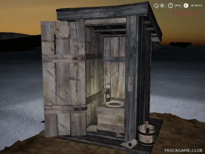 "Мод ""Placeable Outhouse v1.1"" для Farming Simulator 2019"