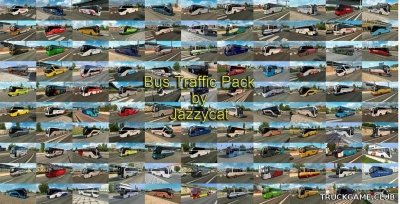 "Мод ""Bus traffic pack by Jazzycat v10.2"" для Euro Truck Simulator 2"