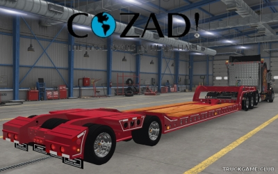 "Мод ""Owned Cozad Lowbed Trailer"" для American Truck Simulator"