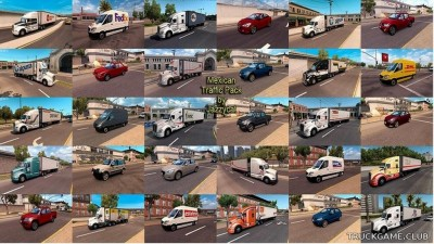 "Мод ""Mexican traffic pack by Jazzycat v2.1"" для American Truck Simulator"