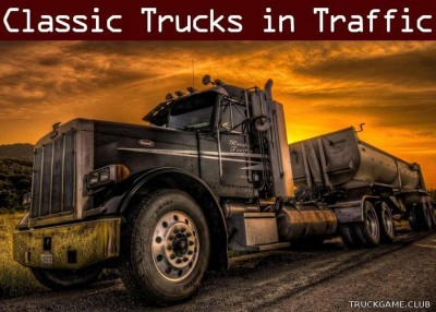 "Мод ""Classic truck traffic pack by TrafficManiac v2.0.1"" для American Truck Simulator"